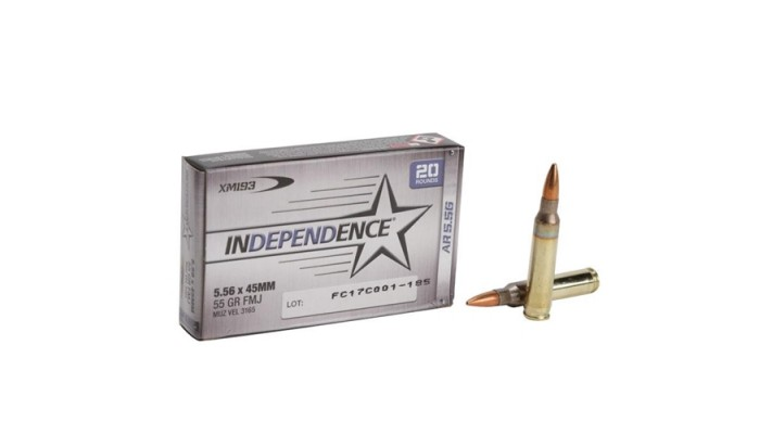 Federal Independence 5.56mm 55gr FMJ x 1000