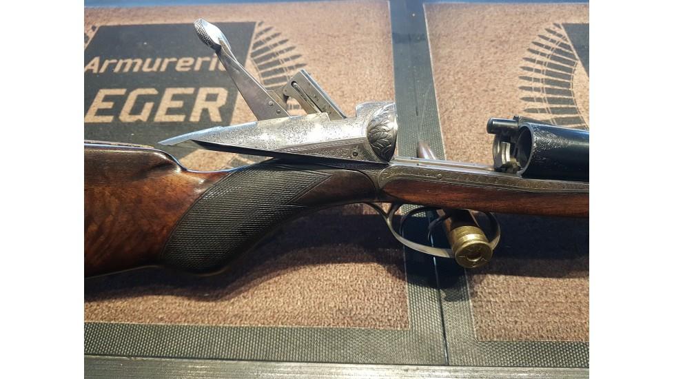 """Darne V-19, 12ga, Canon Feather, chambré 2"""" 3/4, Canon proof test 1300bar état du bois 20/100, état de l'acier 85/100"""