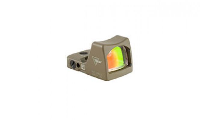 Trijicon - RM02-C-700645: Trijicon RMR® Type 2 LED Sight – 6.5 MOA Red Dot Cerakote Flat Dark Earth