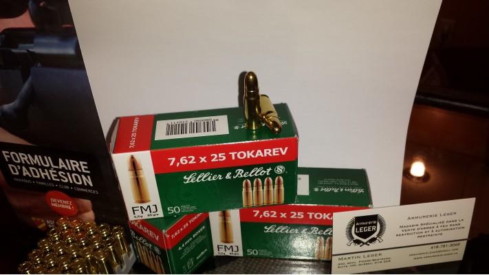 Sellier&Bellot 7.62x25 NON CORROSIVE (1 box of 50) Tokarev 85gr