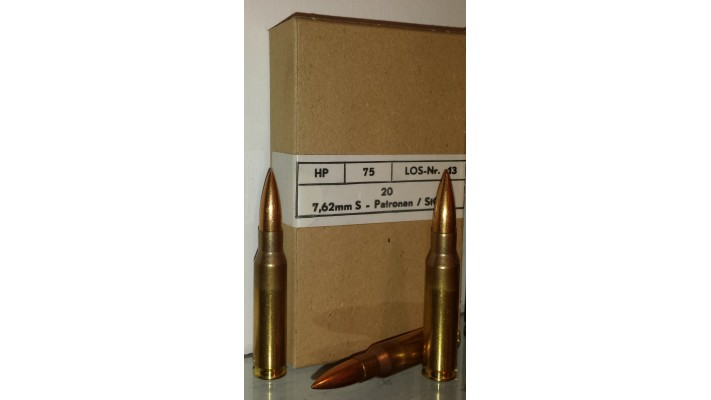 Hirtenberger 7.62x51 (308Win) / 18box 360 balles